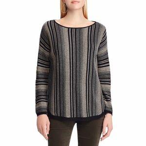 CHAPS Women's Striped Black Sweater XXL NWT
